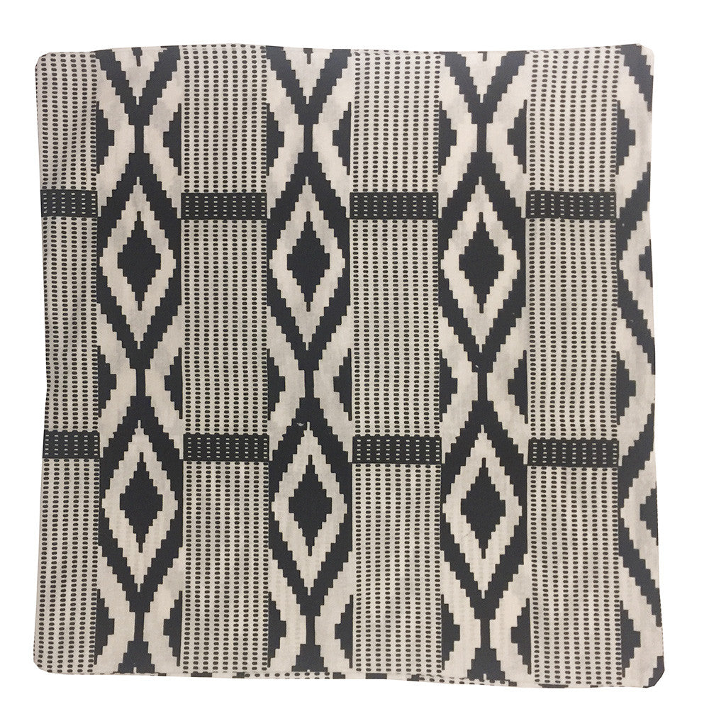 Monochrome Kente Cushion Cover