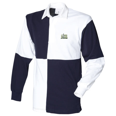 Men's Casual Quartered Rugby Polo Shirt