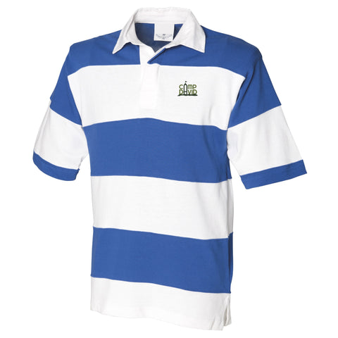 Men's Sewn Striped Short Sleeve Casual Rugby Shirt