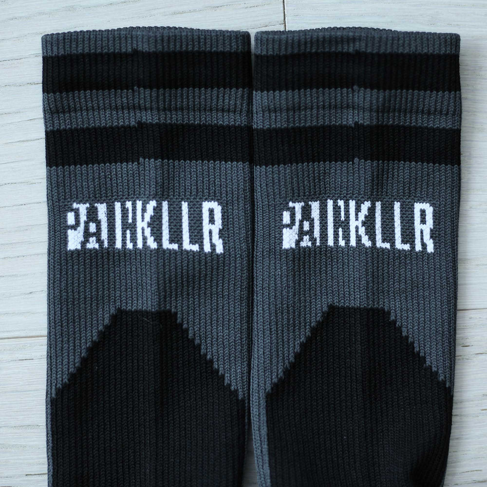 PAINKLLR PAINKILLER unisex crew length socks charcoal
