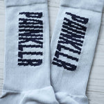 PAINKLLR PAINKILLER unisex crew length socks light grey