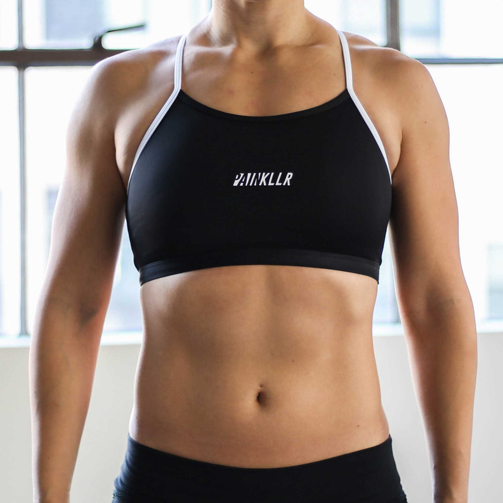 PAINKLLR PAINKILLER Women's impact sports bra black and white