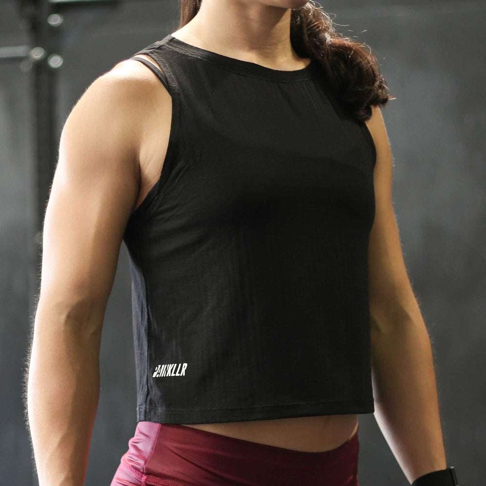 Pace Muscle Tank - Black Mesh