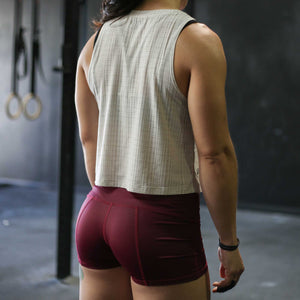 Pace Muscle Tank - Oatmeal Mesh