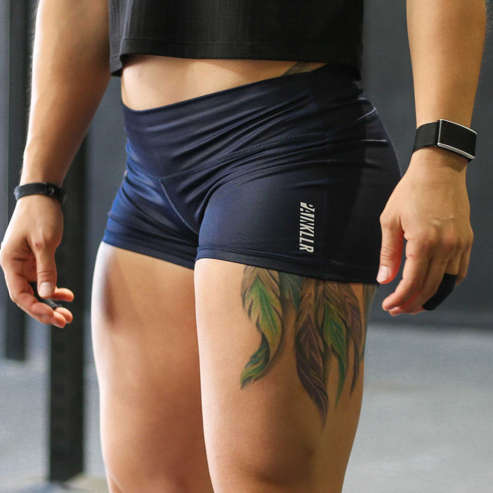 PAINKLLR PAINKILLER Women's navy gloss essential shorts
