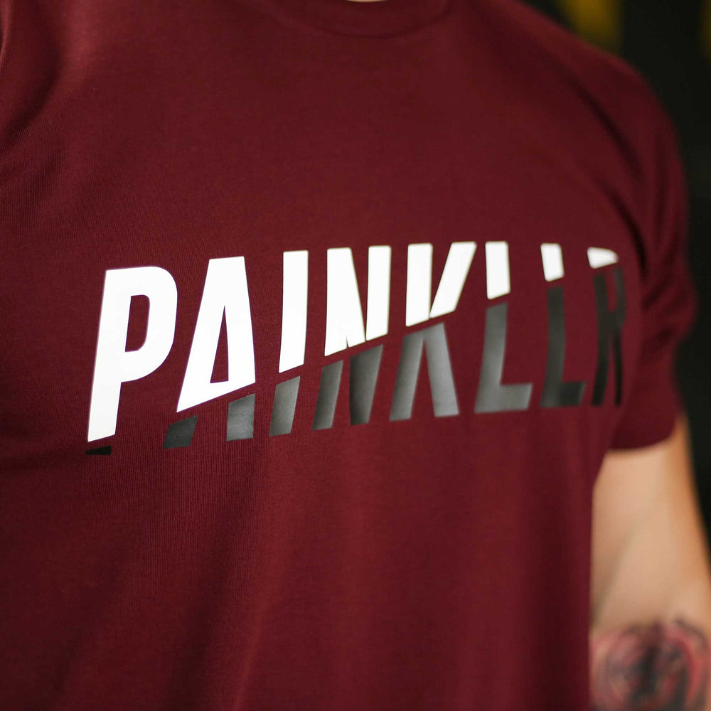 PAINKLLR PAINKILLER Unbroken ultra fine cotton jersey tee burgundy