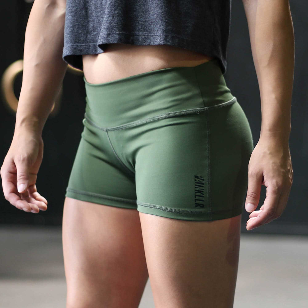 PAINKLLR PAINKILLER Women's green essential shorts