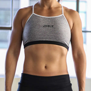 PAINKLLR PAINKILLER Women's impact sports bra grey and white