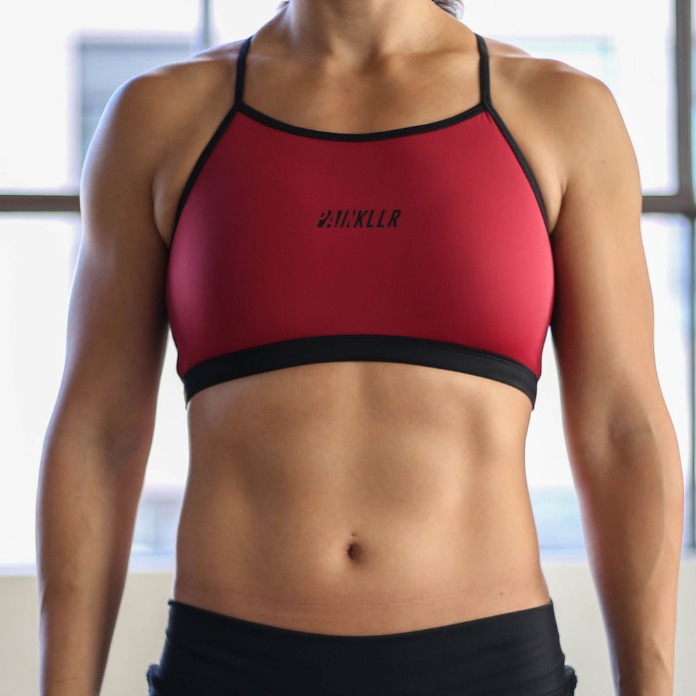 PAINKLLR PAINKILLER Women's impact sports bra black and red