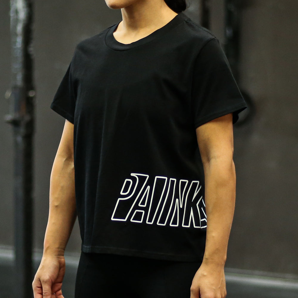 Load image into Gallery viewer, PAINKLLR Wrap Cube Tee - Black