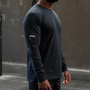 Load image into Gallery viewer, PAINKLLR BASE Long Sleeve Shirt Navy - Side detail