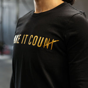 Load image into Gallery viewer, Make it Count LS Tee - Black