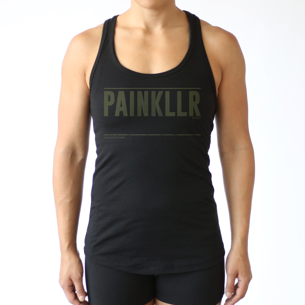 PAINKLLR PAINKILLER women's treads fitted tank black