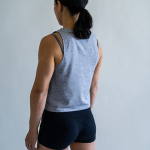 Pace Muscle Tank - Light Heather Gray