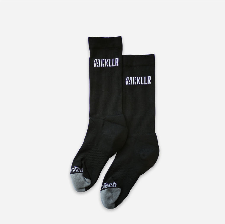 PAINKLLR Finishline Crew Socks (Black Horizontal)