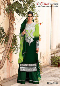 Indian Pakistani Designer Salwar Kameez Original Floral Creations 7306