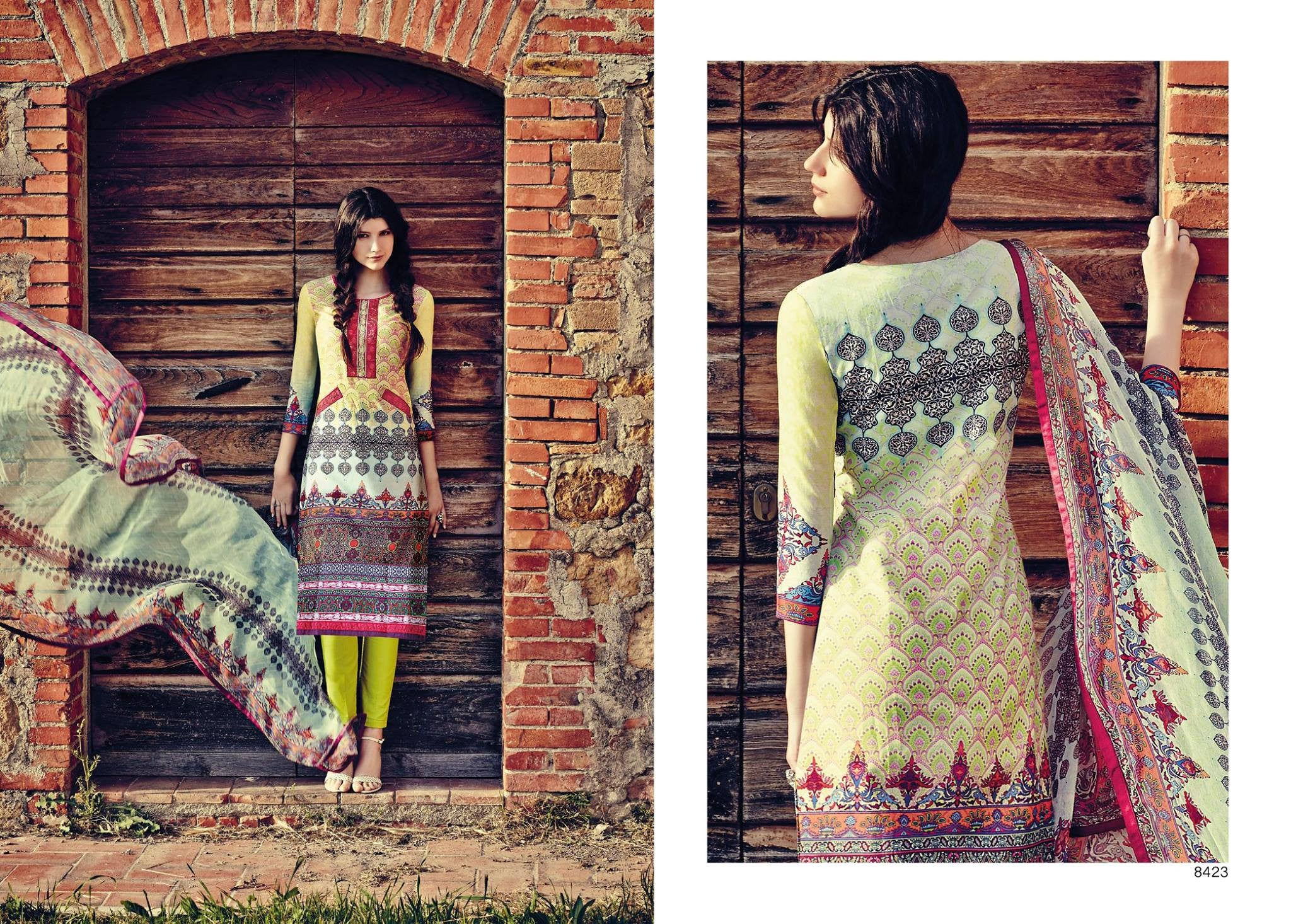 Indian Pakistani Designer Anarkali Salwar Kameez Original  Jinaam Miracles 8423