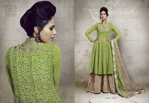Indian Pakistani Designer Anarkali Salwar Kameez Suit Party Nakkashi 11034