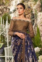 Load image into Gallery viewer, Maria B Unstitched MBROIDERED - Deep Sapphire and Burnt Gold (BD-1601)