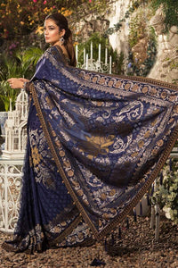 Maria B Unstitched MBROIDERED - Deep Sapphire and Burnt Gold (BD-1601)