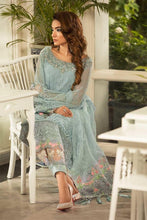Load image into Gallery viewer, Maria B Unstitched MBROIDERED - Powder Blue (BD-1607)