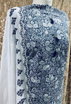 White and Navy  lawn cotton suit SP314-1 midtex