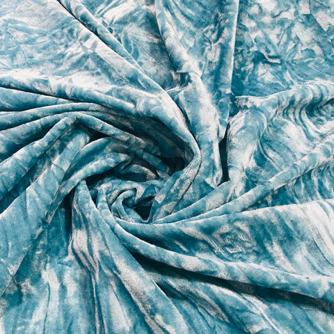 Aqua Blue Crushed velvet SP289-5 Midtex