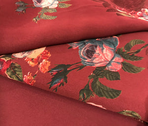 Winter Vaishali Floral Rose  fabric set with chiffon floral dupputa SP277-2 midtex