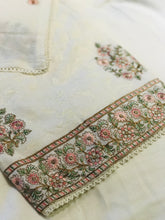 Load image into Gallery viewer, Cream Winter Marina thread embroidered suit  SP2446-1 Midtex
