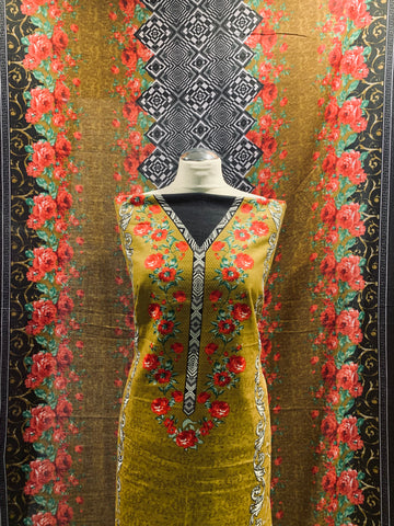 Mustard Winter Khaadar suit  SP249- 10 Midtex