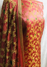 Load image into Gallery viewer, Coral 3 piece Embroidered Banaarsi suit SP158-2 midtex