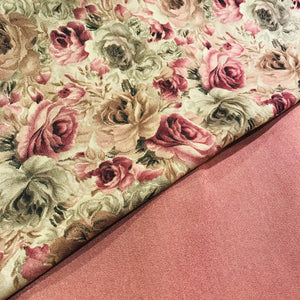 Heavy warm Moss fabric floral suit in Dusky Pink SP293 -3  midtex