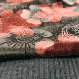 Chocolate & Black Floral velvet with ribbed jersey Salwaar SP290 - 2 Midtex