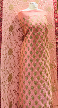 Load image into Gallery viewer, Soft Baby Pink Heavy wedding suit on raw silk SP302-3 midtex