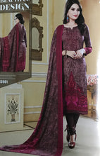 Load image into Gallery viewer, Dusty Pink Unstitched Warm Marina suit with shawl and neck embroidery SP299 -1 midtex