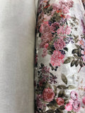 Ivory gold Two way Velvet suit with a floral rose print SP222-3 Midtex