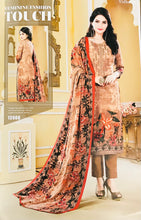 Load image into Gallery viewer, Caramel Brown Unstitched Warm Marina suit with shawl and neck embroidery SP299 -8 midtex