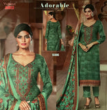 Green Warm  Marina suit with shawl and  neck embroidery SP309 -6 Midtex