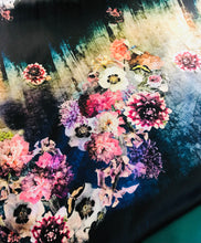 Load image into Gallery viewer, Floral Double print on soft a satin fabric set with printed chiffon  dupputa SP228-2 midtex