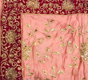 Soft Baby Pink Heavy wedding suit on raw silk SP302-3 midtex
