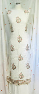Cream Winter Marina thread embroidered suit  SP2446-1 Midtex