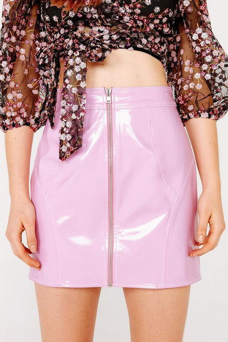 Billie Vinyl Mini Skirt