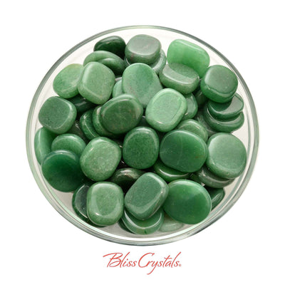 2 GREEN AVENTURINE Mini Palm Stone for Prosperity #GA29