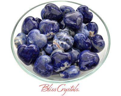 1 SODALITE Mini Heart Polished Stone Healing Crystal and Stone for Meditation Work #SH19