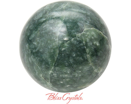 "2"" JADE Nephrite Sphere + Stand Polished Healing Crystal and Stone #JS70"