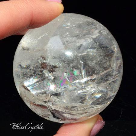 57 mm Clear Quartz CRYSTAL SPHERE + Stand Collector Quality #QS21