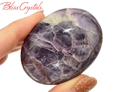 Gem LEPIDOLITE Polished 2.1 inch Palm Stone Healing Crystal and Stone #LP96