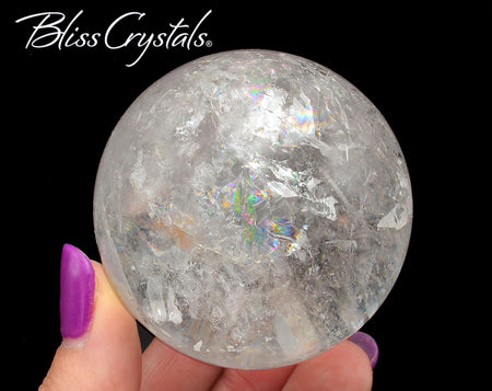 55mm Lemurian Quartz Polished Sphere + Stand Healing Crystal and Stone #LS67
