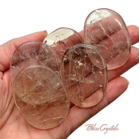 1 XL SMOKY QUARTZ Palm Stone for grounding #SQ64