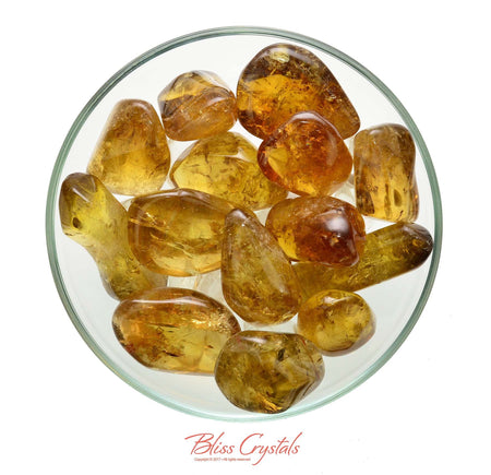 1 Natural African CITRINE Tumbled Stone Freeform Extra Chunky Polished Light Amber Gold Healing Crystal and Stone Prosperity #NC51
